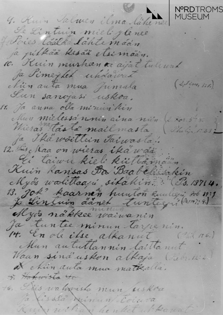 Johan Petter Becks dikt